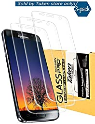 Taken Samsung Galaxy S7 screen protector [3-Pack] - HD Ultra Clear Film - Anti-Bubble Edge to Edge