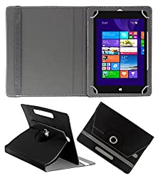 ACM ROTATING 360° LEATHER FLIP CASE FOR NOTION INK CAIN 10 TABLET STAND COVER HOLDER BLACK