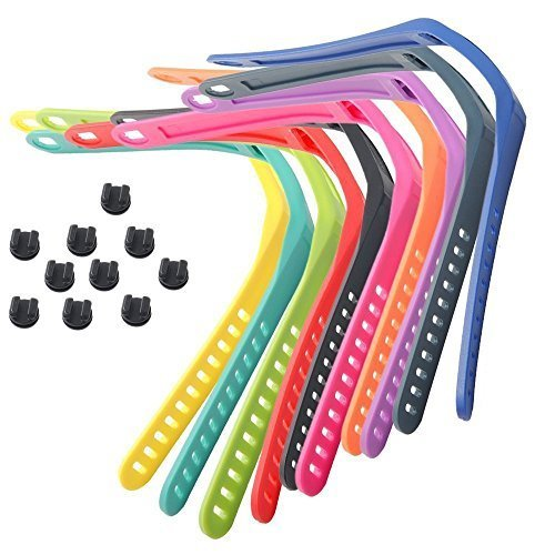 10pcs Replacement Wrist Band/Strap with Metal Clasp for Garmin Vivofit 2 Smart Watch Fitness Trakcer small/10colors