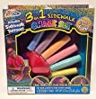 Sidewalk Chalk 3 in 1 includes Sidewalk Tattoos, Chalk Holder and Chalk Stencils!