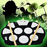Digital Portable Silicone Electronic Roll-up Drum Pad -