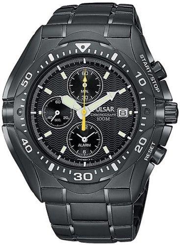 Pulsar Men's PF3663 Tech Gear Alarm Chronograph Black Ion Watch
