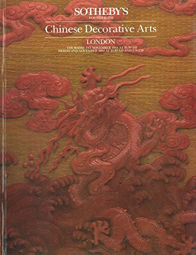 CHINESE DECORATIVE ARTS INCLUDING TEXTILES, FURNITURE AND FURNISHINGS, REVERSE GLASS AND MIRROR PAINTINGS, DECORATIVE AND EXPORT PAINTINGS, WOOD AND STONE SCULPTURE, LACQUER AND PEKIN GLASS, BAMBOO, RHINOCEROS HORN AND IVORY, JADES AND HARDSTONES, JEWELLERY, BRONZES AND MING AND CLOISONN PDF