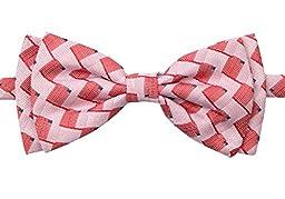 Spring Notion Boys\' Pre-tied Retro Woven Bow Tie, 8-14 Coral Melon (SM)
