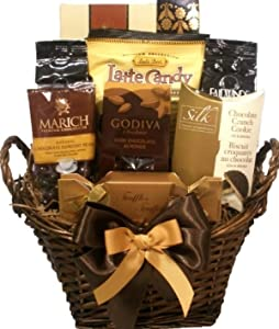Buy holiday gift baskets food - Delight Expressions&amp;trade; Coffee and Chocolate Lovers Gourmet Food Gift Basket - A Holiday Gift Basket Idea!