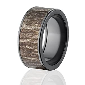 mossy oak rings camo wedding bands black bottomland camo
