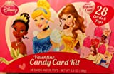 Disney Princess Valentine Candy Card Kit 28 Cards + Pops Includes Teacher Card