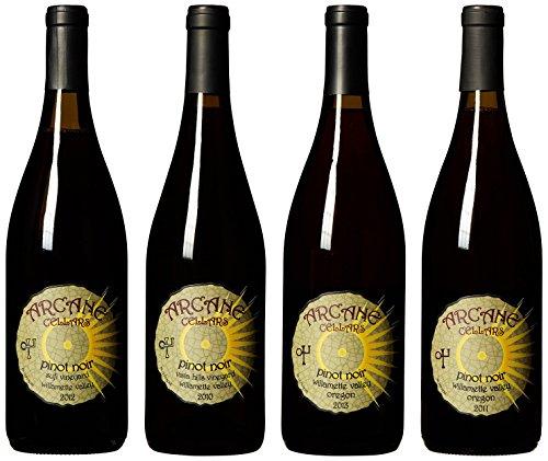 Arcane Cellars Willamette Valley Pinot Noir Vertical Year Medley Mixed Pack, 4X 750 Ml