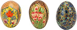 Imperial Collections Cardboard Easter Eggs (IC-72, 4.5 cm x 3 cm, Set of 3)
