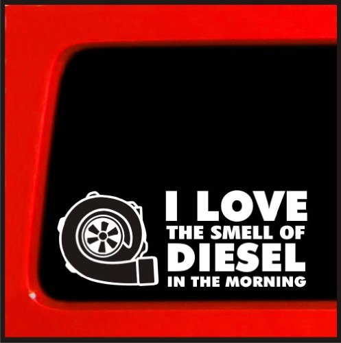 I love the smell of diesel in the morning diesel turbo car truck 4x4 boosted (Cummins Turbo Diesel Sticker compare prices)