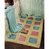 THE BLOCK RUG (with 3x5 inch squares) - A Vintage 1953 Crochet Pattern - Finished Size: 33 x 56 inches. Instant Download Ebook - AVAILABLE FOR DOWNLOAD ... ENABLED (digital book, mat, e-book, floor) ~ Northern Lights Vintage