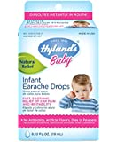 Hyland's Baby Infant Earache Drops, Natural Homeopathic Ear Pain and Irritability Relief, 0.33 Ounce
