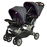 Two seat stroller umbrella with car seat for newborn twins