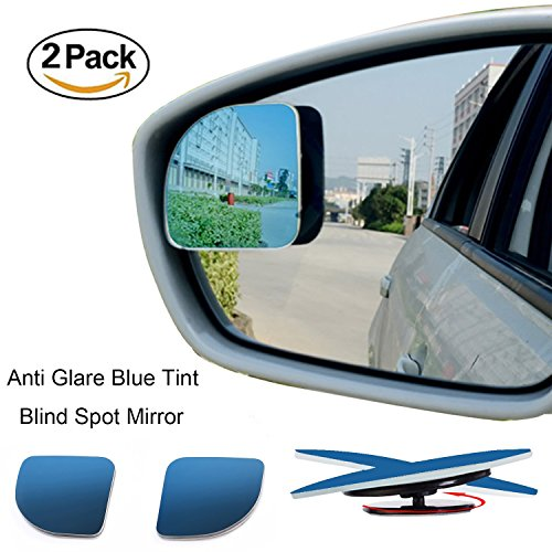 EMIUP Fan shaped Anti Glare Blue Tint Blind Spot Mirrors-2Pack (Side Mirror Tint compare prices)