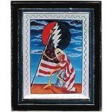 Hippy Skeleton - Liberty Bell - Framed Photo Pin