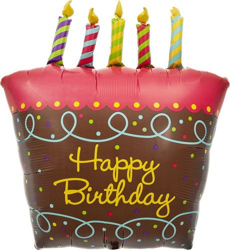 Birthday Cake with Candles Helium Foil Balloon - 31 inch