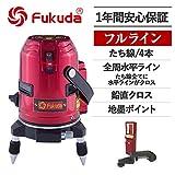 FUKUDA フクダ 360℃ フルライン レーザー墨出し器 受光器(FD-9)セット EK-436P【日本語説明書付属】