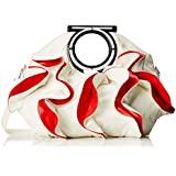 MG Collection Alvery Ruffles Double Handle Statement Tote Purse