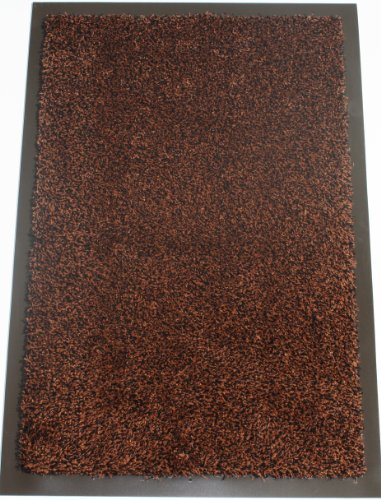 Washamat Barrier Doormat Absorbent Dirt Mud Stopper Door Runner Anti Slip Back 120cm x 90cm Bronze