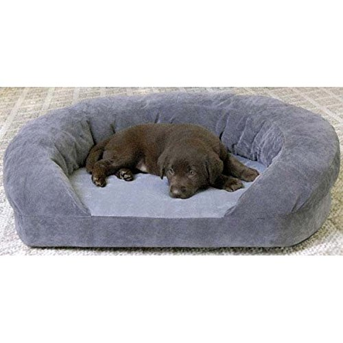K&H Pet Products Ortho Bolster Sleeper Medium Gray Velvet 30