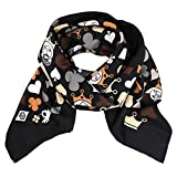 Jonathan Adler Women's 'House of Cards' Square Black Brown Silk Wrap Scarf