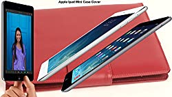 SVVM Case cover for Apple Ipad Mini Synthetic Lather Case cover Magnetic Closer Model : SVVM003IPMCBR (Brown)