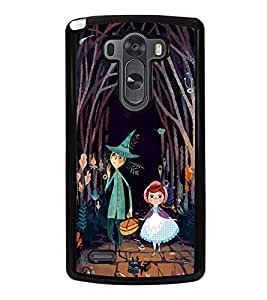Fuson Premium 2D Back Case Cover Cartoon With Brown Background Degined For LG G3::LG G3 D855