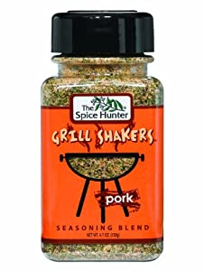 The Spice Hunter Pork Garlic Pepper Grill Shaker, 4.7-Ounce Jars (Pack of 6)