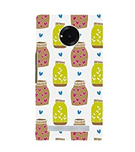 VINTAGE TRADITIONAL BLOCK PRINTING PATTERN OF MASON JARS 3D Hard Polycarbonate Designer Back Case Cover for YU Yunique::Micromax Yunique