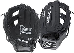 Mizuno Prospect GPP901 Youth Baseball Glove (Black/Smoke, 9-Inch, Right-Handed Throw)