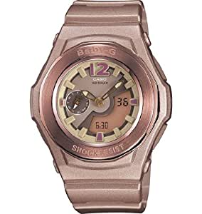 Casio Baby-G Pink Champagne Analog-Digital Multi-Function Ladies Watch BGA141-5B2