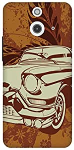 The Racoon Grip printed designer hard back mobile phone case cover for HTC One (E8). (vintage ri)