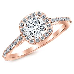 35 Carat Cushio... 1 Carat Cushion Cut Halo Engagement Ring