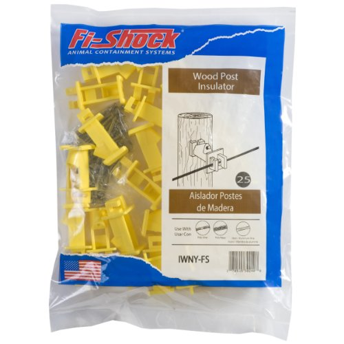 Fi-Shock IWNY-FS Slant Nail Insulator, Yellow (Poly Wire compare prices)