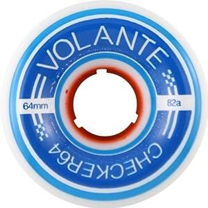 Amazon.com : Volante Center-Set Checker 64mm 82a Org/Blue Wheels (Set