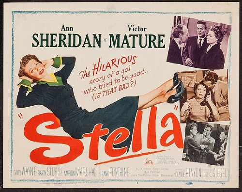 1950 Stella Starring Ann Sheridan And Victor Mature Directed By Claude Binyon Lobby Card Set Of Eight