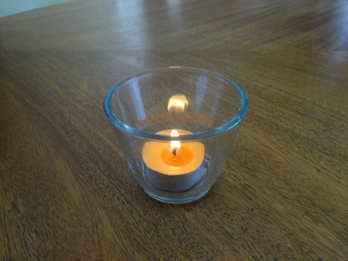 Heavy Clear Glass Votive/tealight Holders With Flared Top (4 Pack) Vot-400
