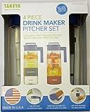 Takeya 4 Piece Drink Maker Pitcher Set (Blue)