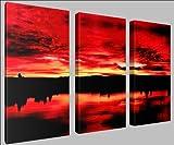Canvas print wall art - Deep red