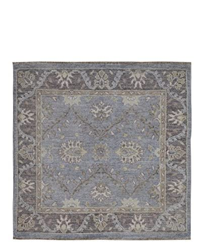 Kalaty One-of-a-Kind Pak Rug, Blue, 3' x 3' 1