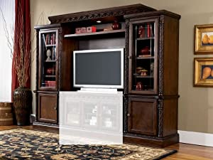 Amazon Com North Shore Entertainment Wall Unit Without