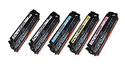 SpeedyToner© Remanufactured Toner Cartridge Replacement for HP HP COLOR LASERJET CP1215 YELLOW TONER CARTRIDGE ( Black,Cyan,Magenta,Yellow , 5-Pack )