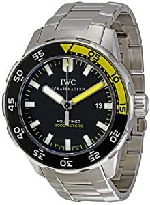 IWC Men's IW356808 Aquatimer Black Dial Watch by IWC