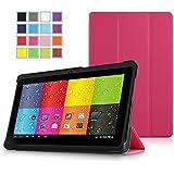 "Prontotec SlimFit Series 3-Fold Cover for 7"" Android Tablet (Compatible Model: Dragon Touch 7"" Y88, A13 Q88, Matricom G-Tab Nero CX2, ProntoTec 7"" Y88, ProntoTec Axius Series 7"", Axis A23 7"", Simbans S74 7"", NORIA T2 7"", Zeepad, Chromo, FONESO HH017 7"" A23, NeuTab N7 7'', Noria JR 7"")(Magenta)"