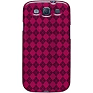 Amzer Luxe Argyle High Gloss TPU Soft Gel Skin Case For Galaxy S III (Hot Pink)