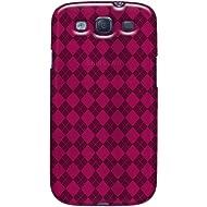 Amzer Luxe Argyle High Gloss TPU Soft Gel Skin Case For Galaxy S III (Hot Pink)