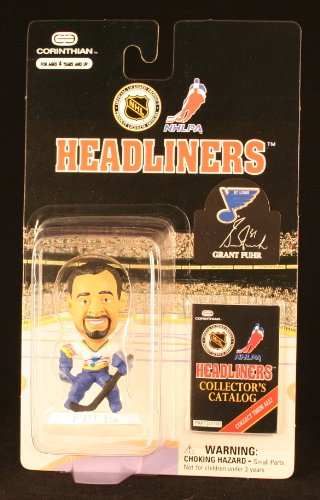 GRANT FUHR / ST. LOUIS BLUES * 3 INCH * 1997 NHL Headliners Hockey Collector Figure