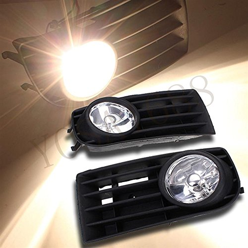 Yosa 12V Pair Car/Truck Fog Lights Lamps Bulbs Grille Set For VW MK5 GOLF RABBIT Deck Head Lamp (Vw Golf Mk5 Fog Lights compare prices)