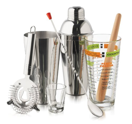Libbey 9-Piece Cool Cocktails Mixologist Set (Mixing Drinks Set compare prices)