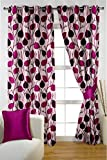 HOMEC Trendy Printed Door Curtains Set of 2 (Size - Door 46 X 84 inch/Color - Purple)